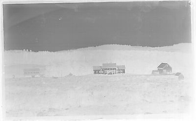 Glass Negative,great Old Farmhouse, Unknown Location, New England??