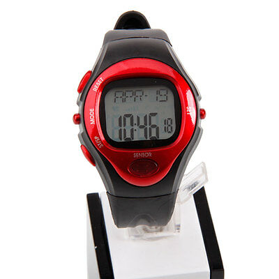Pulse Heart Rate Counter Calories Monitor Watch Sport Black & Red RE0622