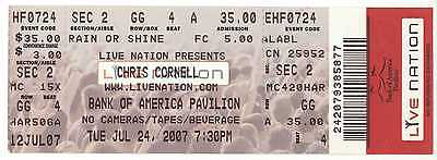 Rare CHRIS CORNELL 7/24/07 Boston MA Concert Ticket! Soundgarden