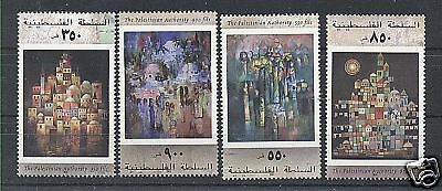 Palestinian Authority 2001 Art Set Of 4 Stamps Mnh