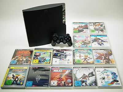 Playstation 3 Slim PS3 Konsole 320GB Komplettbundle mit 3 Spielen #A49040