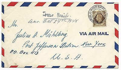 Great Britain Scott #248 on Air Mail Cover International Tracing Service