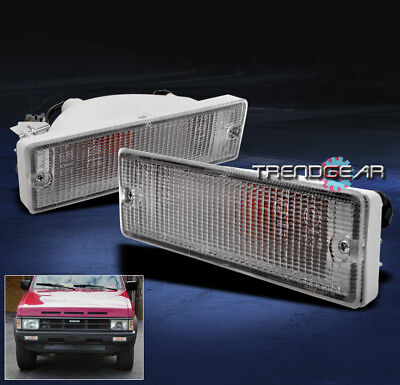 Replacement Set Driver and Passenger Park Signal Front Marker Lights Compatible with 88-97 Pickup Truck 88-95 Pathfinder B613541G02 B613041G02