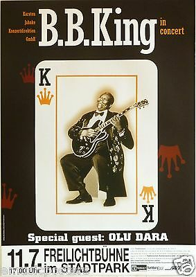 B.B. KING / OLU DARA 2002 GERMAN CONCERT TOUR POSTER - B.B. Playing Lucile