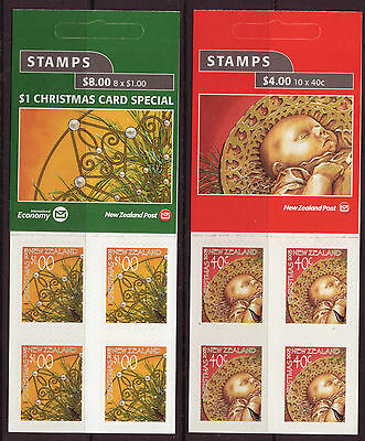 New Zealand 2003 Christmas Pair Of Booklets Unmounted Mint