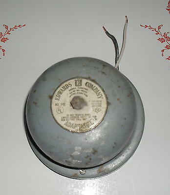 VINTAGE FIRE BELL /SCHOOL BELL  / INDUSTRAIL BELL- MADE By EDWARDS Co. No. 340