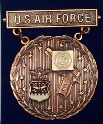 US Air Force Pistol EIC Excellence In Competition Badge Medal, Bronze