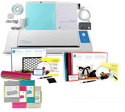 Silhouette CAMEO V2 Machine FREE 2 KITS VINYL and TOOLS Heat Transfer & COVER