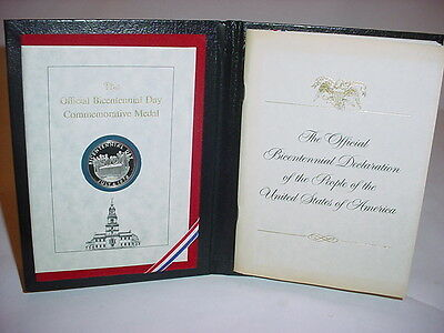 The Official Bicentennial Day Commemorative Medal Independence Day Silver Coin