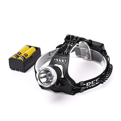 New 2000Lm CREE XM-L XML T6 LED Headlamp Headlight Torch 2X18650 battery+Charger