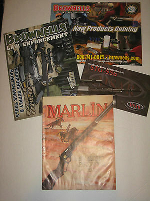 Lot of 4 Arms Catalogs Rare 1972 Marlin  Brownells 2009-2010 Microtech Firearms
