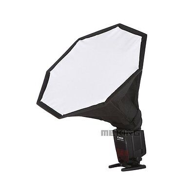 Meking 28cm 11in Softbox For SpeedLight Flash Octagon Soft box with Carrying Bag