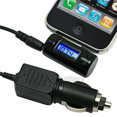 Wireless FM Transmitter Car Charger Adapter for iPhone 3G 4G 4S 3GS 4 iPod Touch