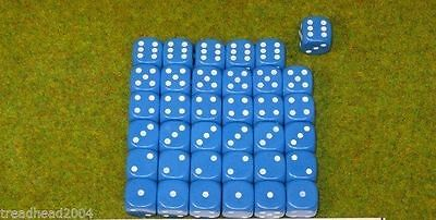 36 x 12mm BLUE DICE For Wargamers