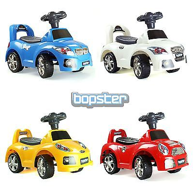 Bopster Kids Toddler Ride on Push along Sports Car 4 Styles NEW