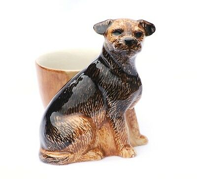 Border Terrier Egg Cup By Quail Pottery Hunting Hound Gift Hand Painted