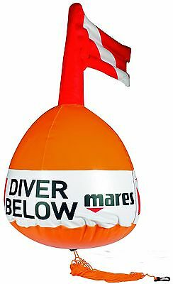 Mares - Standard - Divers SMB - Marker Buoy, Line and Snap hook - 64cm Tall