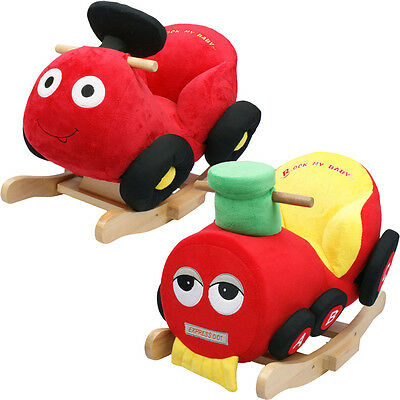 Baby Rocker Rocking Chair Toy Car Train Kids Soft Cuddly Musical Babies Support