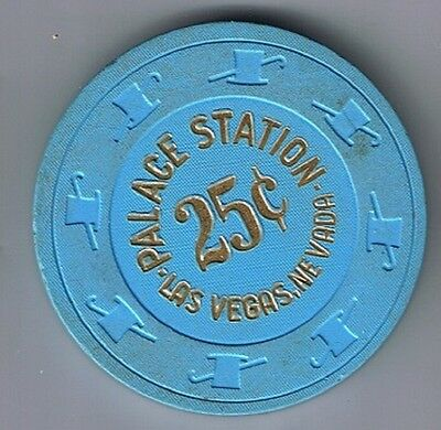 Palace Station 25¢ Fractional Hat & Cane Mold Casino Chip Las Vegas Nevada