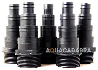 "5 X 1 1/4"" BSP THREADED 38,32,25,20mm FLEXI PIPE HOSE TAIL KOI/FISH/POND/FILTER"