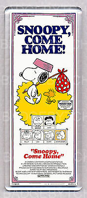 SNOOPY COME HOME! movie poster LARGE 'wide style' FRIDGE MAGNET - PEANUTS COOL!