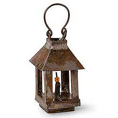 Dollhouse Miniature Fairy Garden Tin Lantern, Aged, 1 1/2""