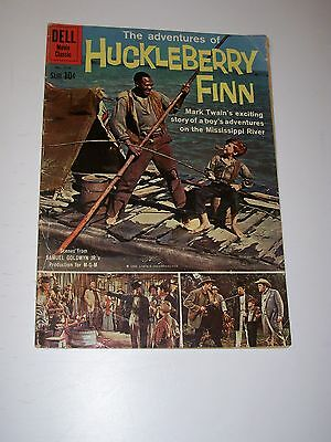 Four Color #1114 VG 1960 Adventures of Huckleberry Finn Dell Movie Classic