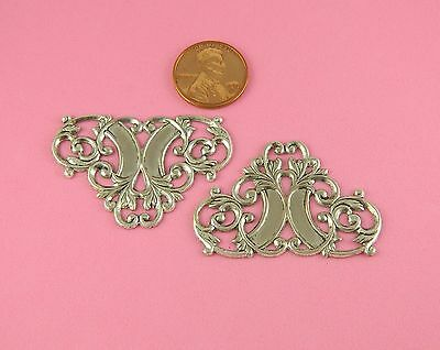 BEAUTIFUL ANTIQUE SILVER PLATED BRASS ROCOCO MOTIF - 1 PC(s)