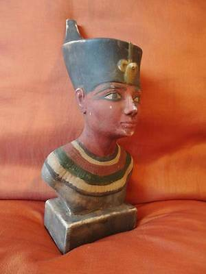 RARE Antique Egyptian Mask of Ancient Pharaoh  King Amenhotep Collection...LARGE