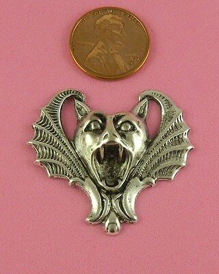 VINT DESIGN ANT SILVER PLATED BRASS LARGE SCARY BAT - 1 PC(s)