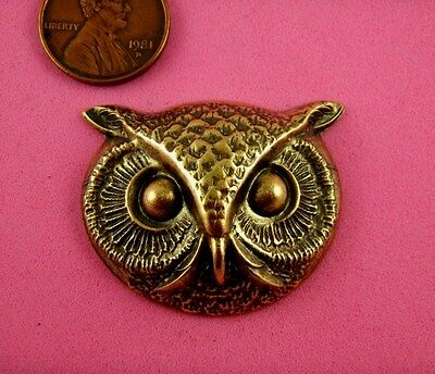 VINT DESIGN ANT BRASS LARGE OWL'S HEAD #2-1 PC(s)