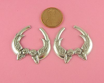 ANTIQUE SILVER PLATED BRASS TWIN ANGEL DESIGN - 1 PC(s)
