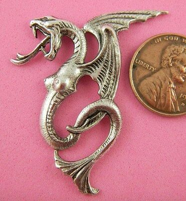 ANTIQUE SILVER LEFT FACING LILITH SERPENT-1 PC(s)