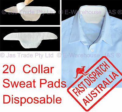 20 x Disposable Neck Collar Lining Sweat Absorption Stain Pads Protector Guard