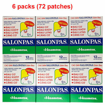 Salonpas Patch Hisamitsu Pain Relieving  - Made in Vietnam 6 Boxes 72 Patches