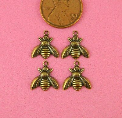 VINTAGE DESIGN ANT BRASS SMALL BUMBLEBEE - 4 PC(s)