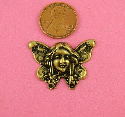 VINTAGE DESIGN ANT BRASS FAIRY MAIDEN - 2 PC(s)