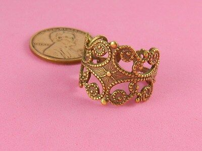 VINTAGE DESIGN ANT BRASS BEADED RING #2 - 1 PC(s)