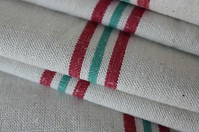 Vintage French unused Metis Christmas fabric ~ 1yd lengths ~ natural material ~~
