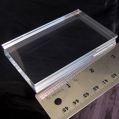 PERFECTLY CLEAR HANDLE acrylic stamp block SMALL Stampendous for cling rubber