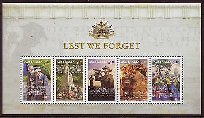 AUSTRALIA 2008 LEST WE FORGET MINIATURE SHEET UNMOUNTED MINT