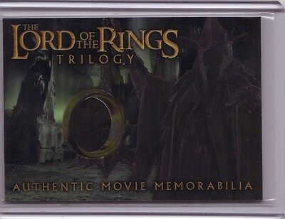 LOTR Lord Of The Rings Trilogy chrome The Witch-King's robe costume swatch card
