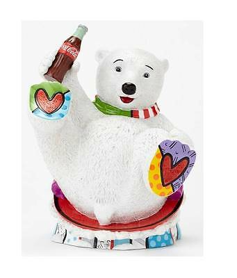 Romero Britto for Coke Coca Cola Polar Bear Cub w Bottle New for 2014