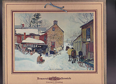 Rochester Democrat & Chronicle Carrier's Greeting Calendar 1931 Old Homestead