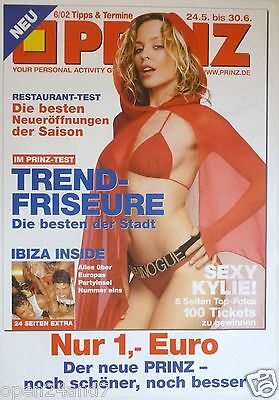"KYLIE MINOGUE ""2002 PRINZ GERMAN MAGAZINE"" POSTER-Sexy Red Riding Hood In Bikini"