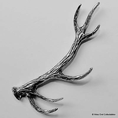 Large Red Deer Stag Antler Pewter Pin Brooch -British Hand Crafted-Scotland Fawn