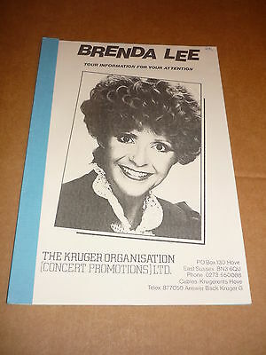 Brenda Lee 1983 UK Tour Manual