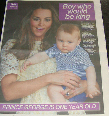 ROYAL FAMILY 12 PAGE SOUVENIR - PRINCE GEORGE 1st BIRTHDAY - WILLIAM KATE