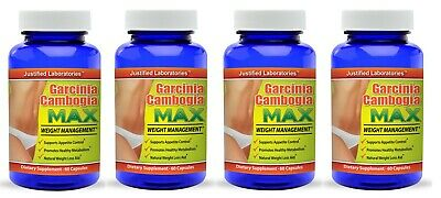 100% Pure Garcinia Cambogia 1300 MG Natural Weight Loss 60% HCA Diet 4 Pack