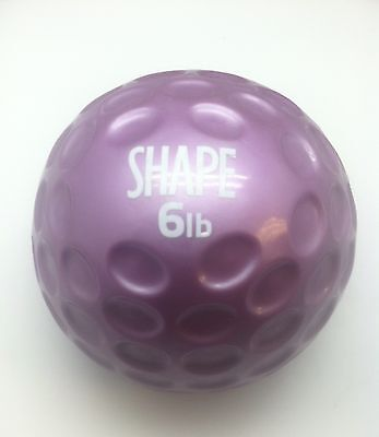 New Shape 6 Lb Medicine Ball Fingertip Exercise Purple Gym Workout Home Abs Core